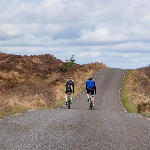 Road cycling in the Slieve Bloom Mountains